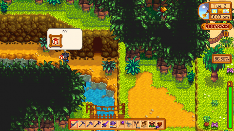 Image showing the mysterious present that has the Squirrel Figurine inside it in Stardew Valley.