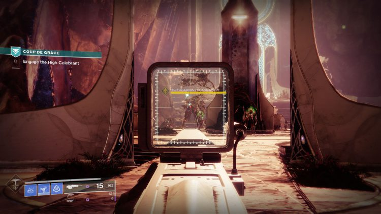 Image showing the High Celebrant boss in Destiny 2.