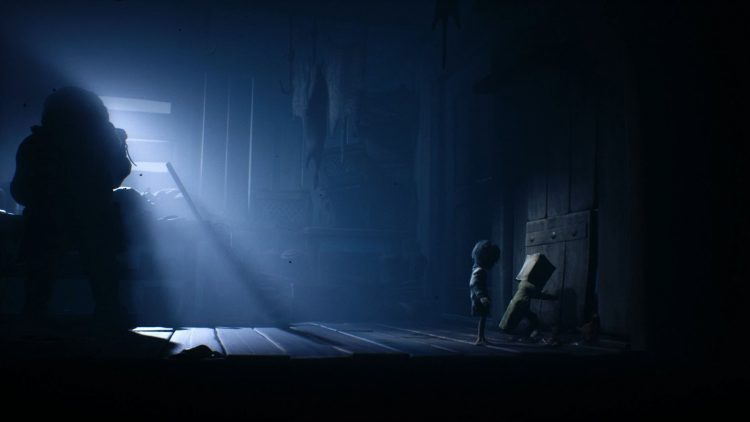 Image showing escaping the Hunter's Shack in Little Nightmares 2.
