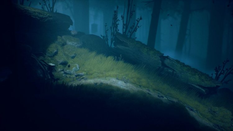Image showing where the log rolls in the Wilderness level of Little Nightmares 2.