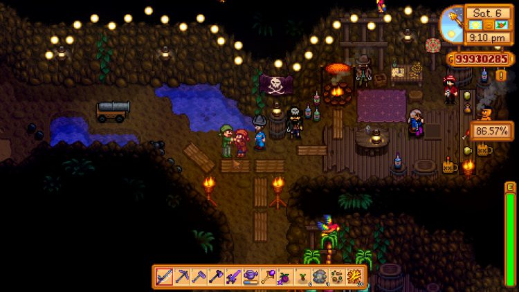 Image showing the Pirates in Stardew Valley's Pirate Cove.