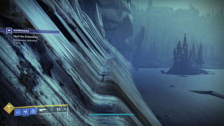 Image showing the dam ledge in Destiny 2.