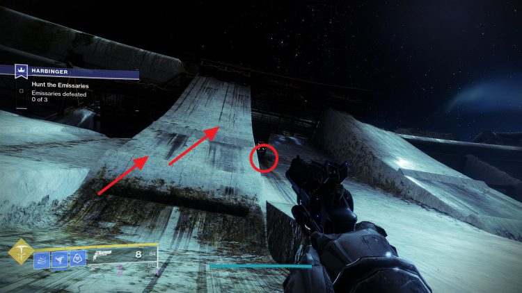 Image showing how to enter the Dam in Destiny 2.