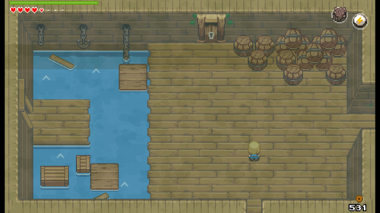 Image showing a dungeon in Ocean's Heart.