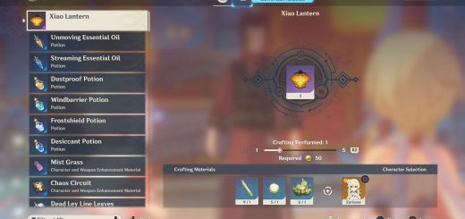 Featured image on How to Craft Xiao Lantern in Genshin Impact guide.