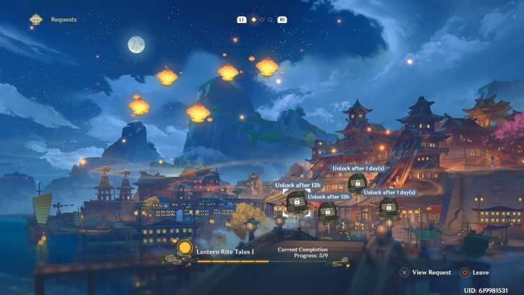 Image showing the Lantern Rite Tales I in Genshin Impact.