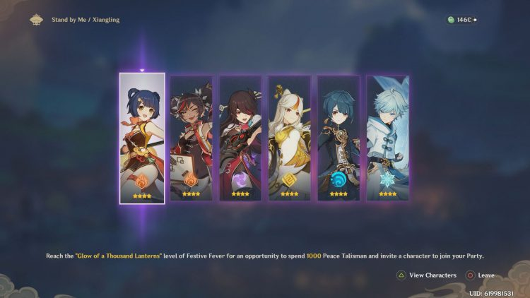 Image showing the Stand by Me character unlock screen in Genshin Impact.