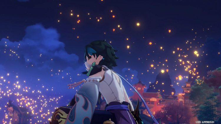 Image showing the Lantern Rite cutscene.