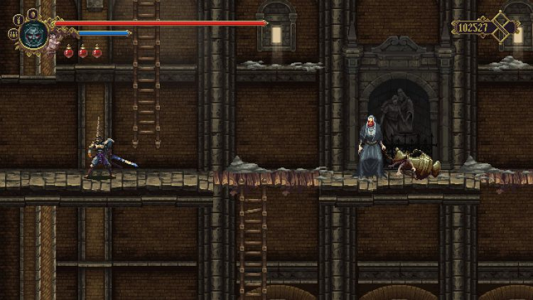 Image showing the breakable wall in Convent of our Lady of the Charred Visage for the Miriam's Challenge mission.