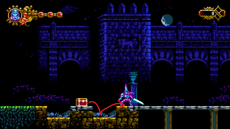 Image showing the first skull location in the Blasphemous arcade game.