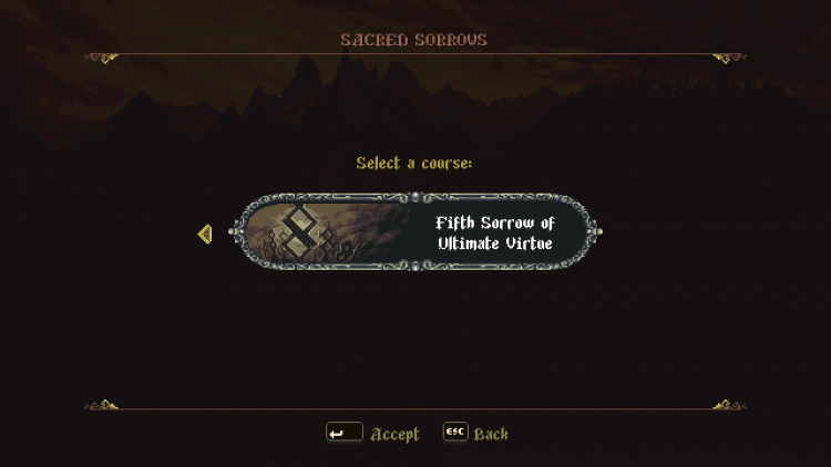 Image showing the Sacred Sorrows Mode course 5.