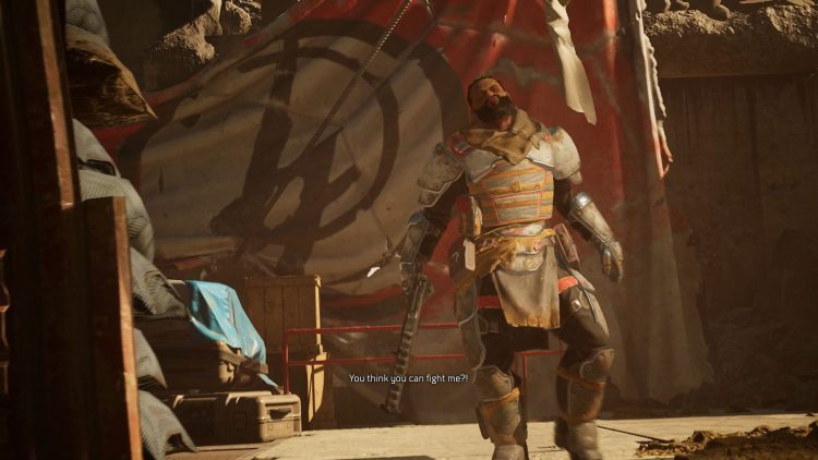 Image showing the Reiner boss in Outriders.