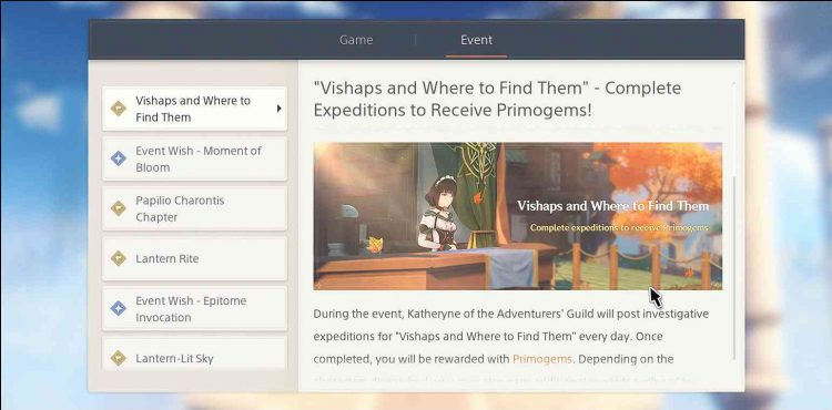 Image showing the Vishaps and Where to Find Them description page in Genshin Impact.