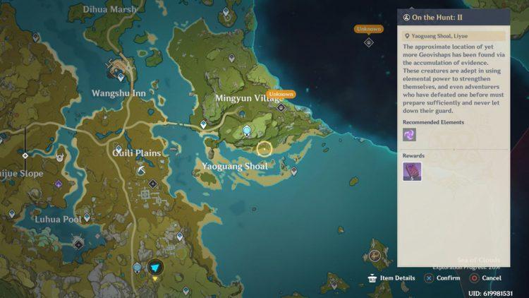Image showing Where to Find On the Hunt II Bounty in Genshin Impact.
