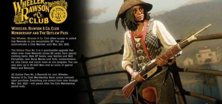 Featured image on Red Dead Online Outlaw Pass 5 Content list.