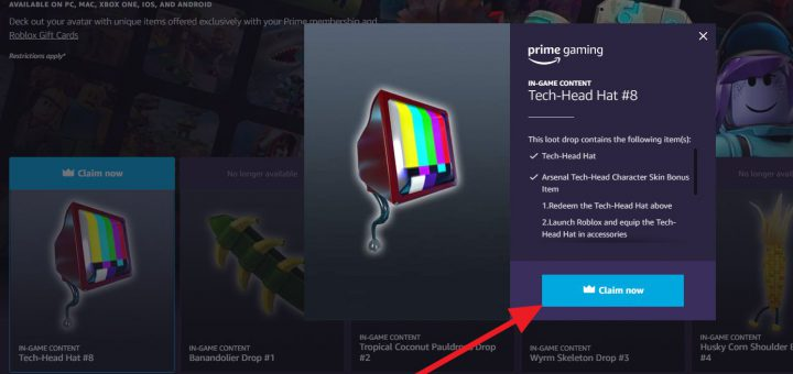 Featured image on Roblox How to Get Tech-Head hat prime gaming guide.