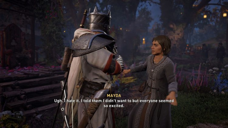 Image from AC Valhalla The May Queen quest.