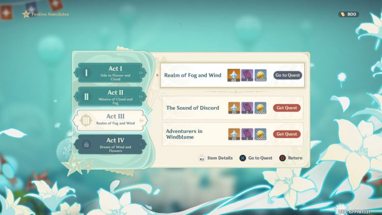 Image showing How to Start the Realm of Fog and Wind Side Quest in Genshin Impact.