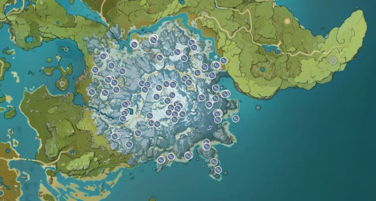 Image showing the Starsilver Ore map locations.