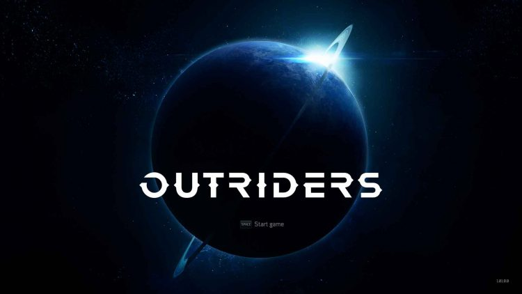 Image showing the Outriders start game screen.