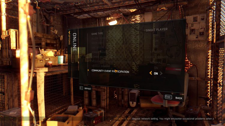 Image showing how to turn off and on the Egg Hunt event in Dying Light.