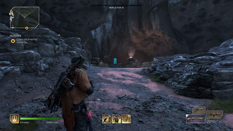 Image showing the first stone pillar location in the Canyon of the Grand Obelisk.