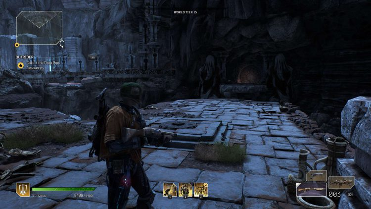 Image showing the Pillaged Crypts keystone in Outriders.