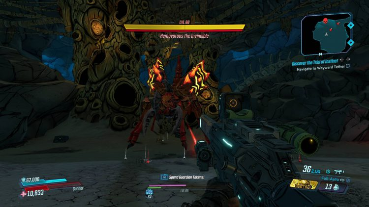 Image showing Hemovorous the Invincible in Borderlands 3.