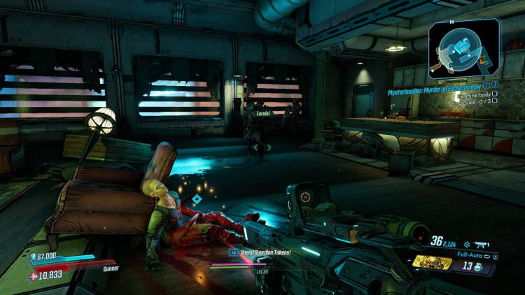Image showing the first crime scene in the Ava Borderlands 3 quest.