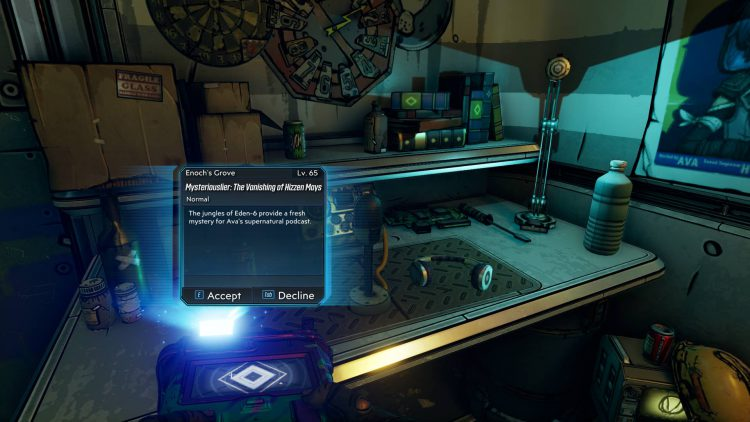 Image showing Where to Start Mysteriouslier The Vanishing of Hizzen Mays in Borderlands 3.