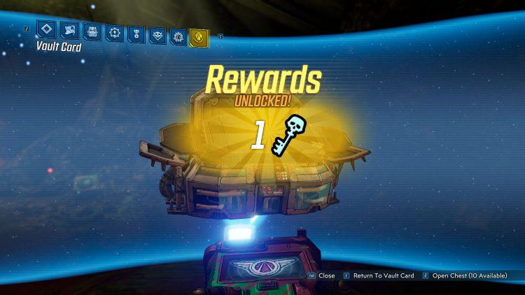 Image showing a chest reward in Borderlands 3.