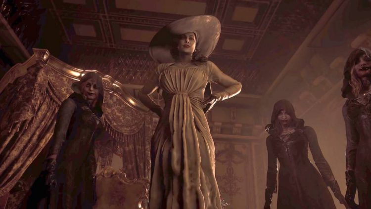 Image showing characters from the Resident Evil Village title.