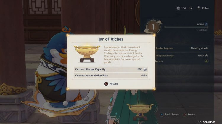 Image showing Tubby's Jar of Riches in Genshin Impact.