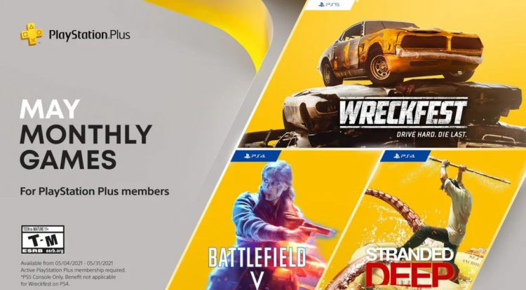 Image showing the May 2021 PlayStation Plus games.