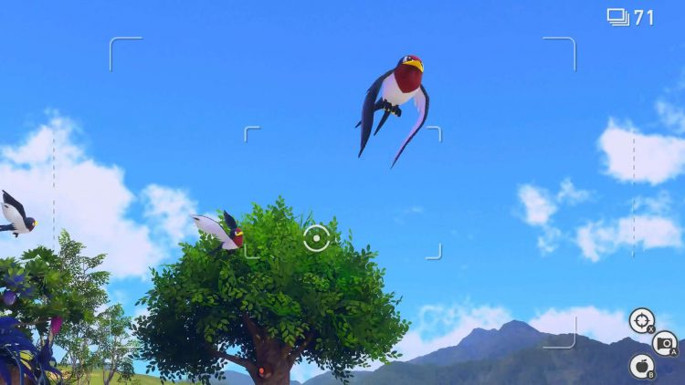 Image showing a flying Tailow in New Pokemon Snap.
