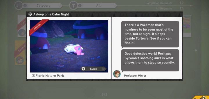 Featured image on Asleep on a Calm Night Guide for New Pokemon Snap.