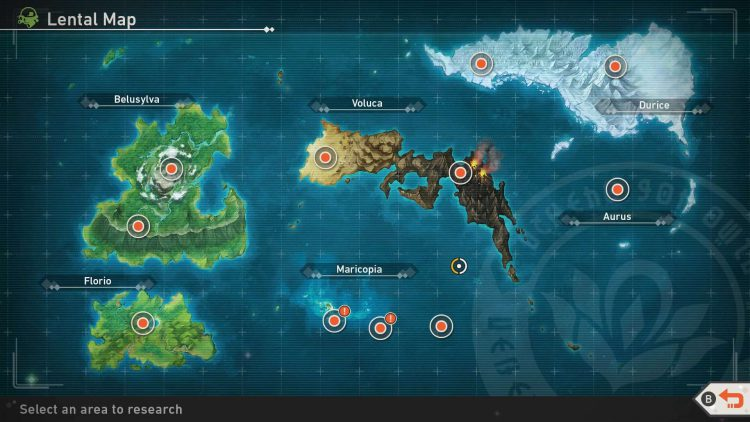 Image showing the full Lental Map in New Pokemon Snap.