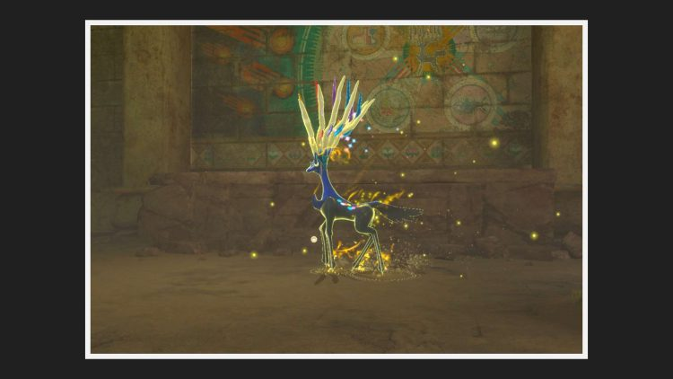 Image showing a legendary Pokémon in New Pokemon Snap.