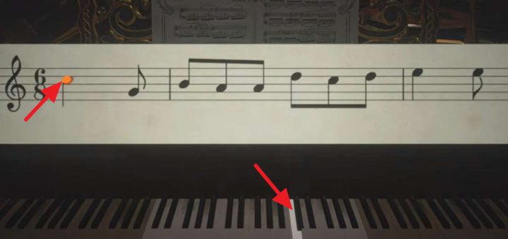 Featured image on Resident Evil Village Piano Puzzle Solution guide.