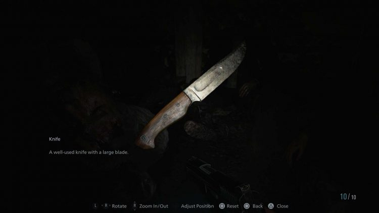 Image showing the Knife in Resident Evil Village.
