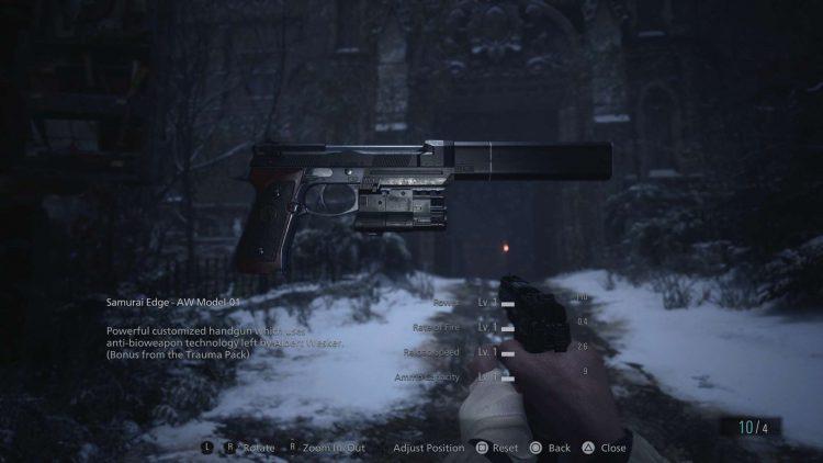 Image showing the Samurai Edge - AW Model-01 in Resident Evil Village.