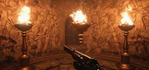 Featured image on Resident Evil Village Dungeon Brazier Puzzle Solution guide.
