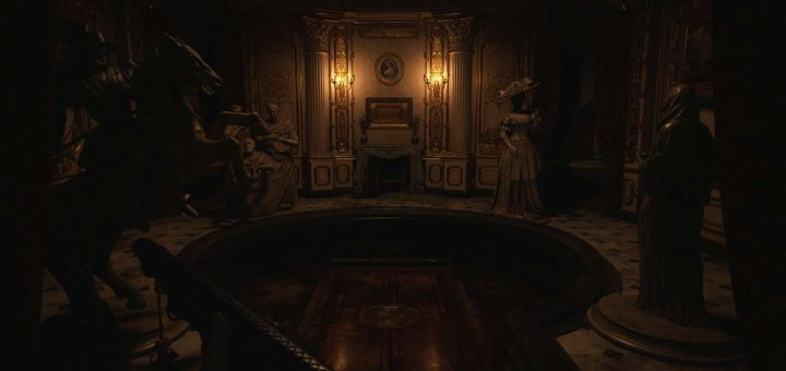 Featured image on Hall of Ablution Statue Puzzle in Resident Evil Village solution guide.
