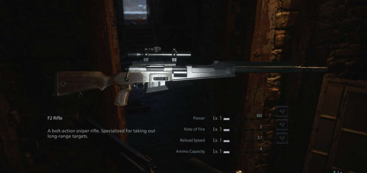 Featured image on Where to Find the Sniper Rifle in Resident Evil Village guide.