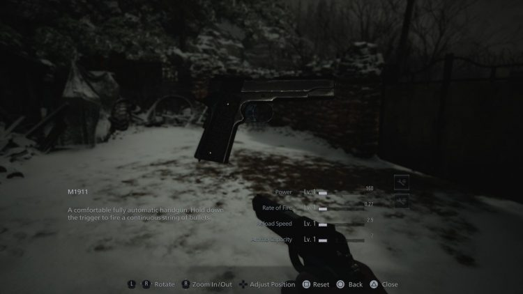 Image showing the M1911 in Resident Evil Village.