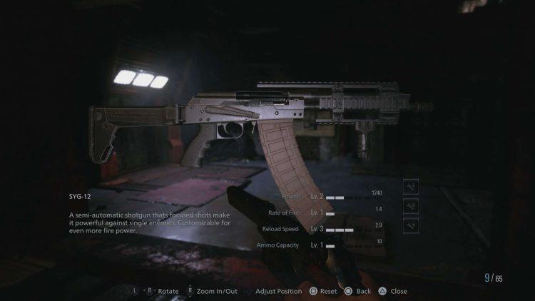 Image showing the Syg-12 Shotgun in Resident Evil Village.