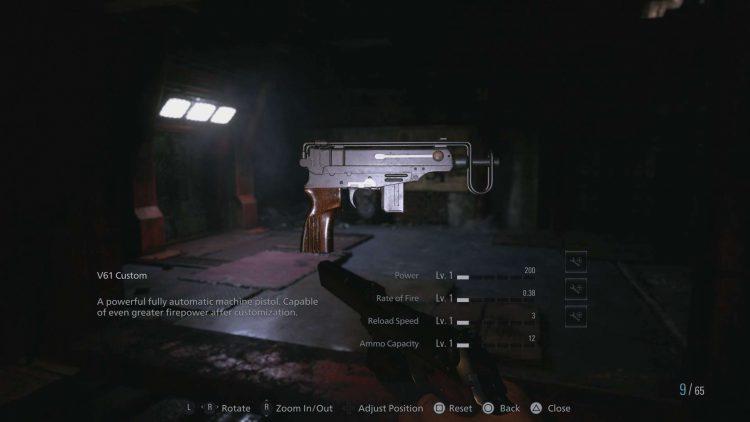 Image showing the V61 Custom SMG in Resident Evil 8.