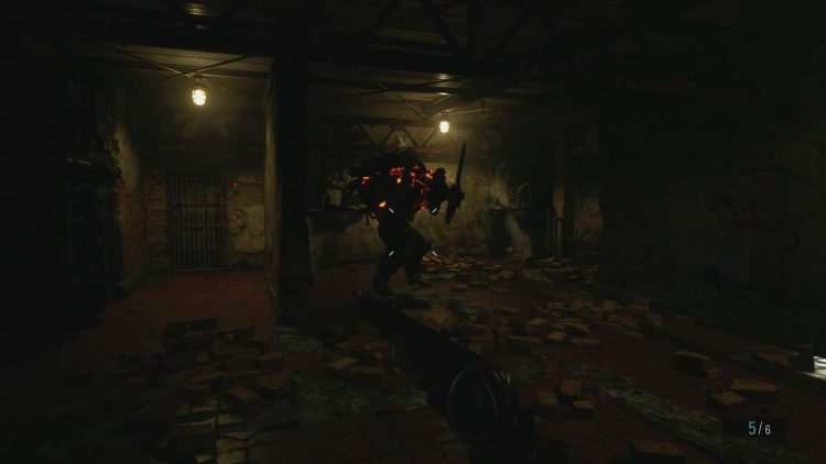 Image showing the Sturm fight boss fight in Resident Evil Village.
