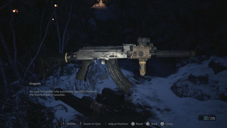 Image showing the Dragoon AR in Resident Evil Village.