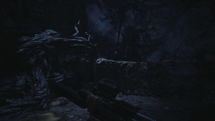 Image showing the second boss fight against Urias in Resident Evil Village.